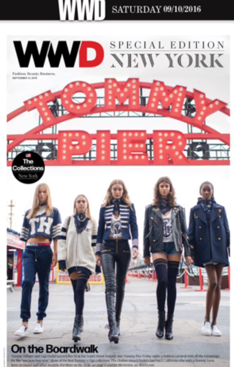 The cover of @wwd @DelilahBellee!  ❤️❤️❤️❤️❤️⚓️????????#TommyPier #TommyNow #TommyxGigi #NYFW https://t.co/xpqsAgA42Z