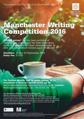 2016 Manchester Writing Competition - £10,000 prizes for Poetry and Fiction https://t.co/ComFI4bnll https://t.co/aJ8eUL59Lk