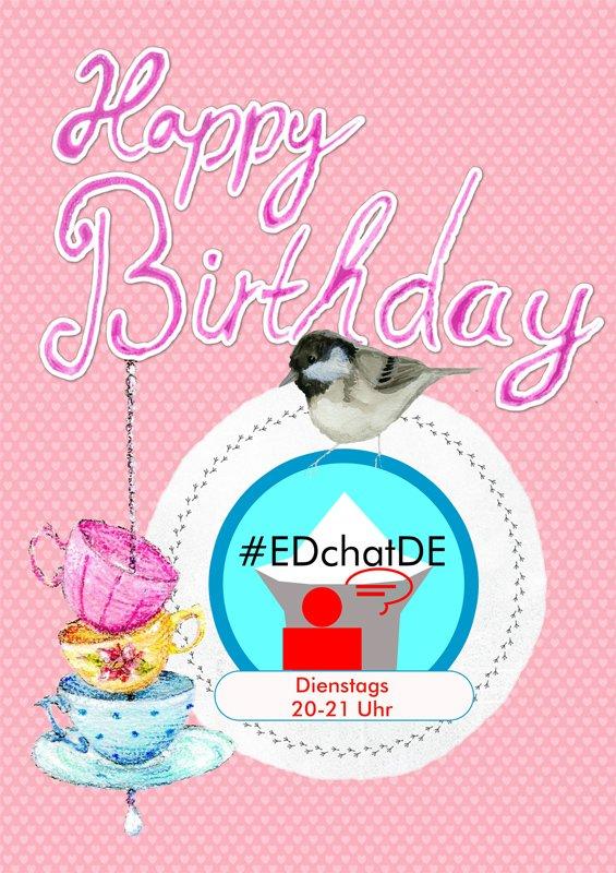 Happy birthday, #EDchatDE! :-) #3years #educhat https://t.co/tGNEGP0hX3
