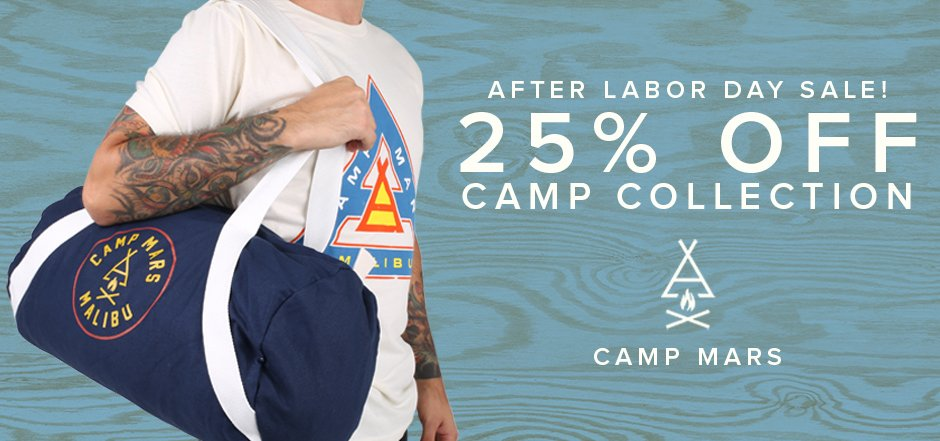 RT @MARSStore: FINAL WEEKEND! Don't miss the #CampMars Collection PLUS 25% OFF. Shop now: https://t.co/BFL3yvJqOG https://t.co/Eyx2CVIGek