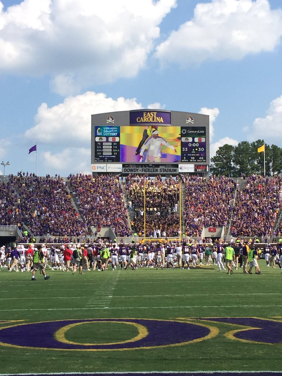 It's a GREAT day to be a Pirate! Final: ECU Pirates 33, @NCState Wolfpack 30. https://t.co/Uik9PNapNe