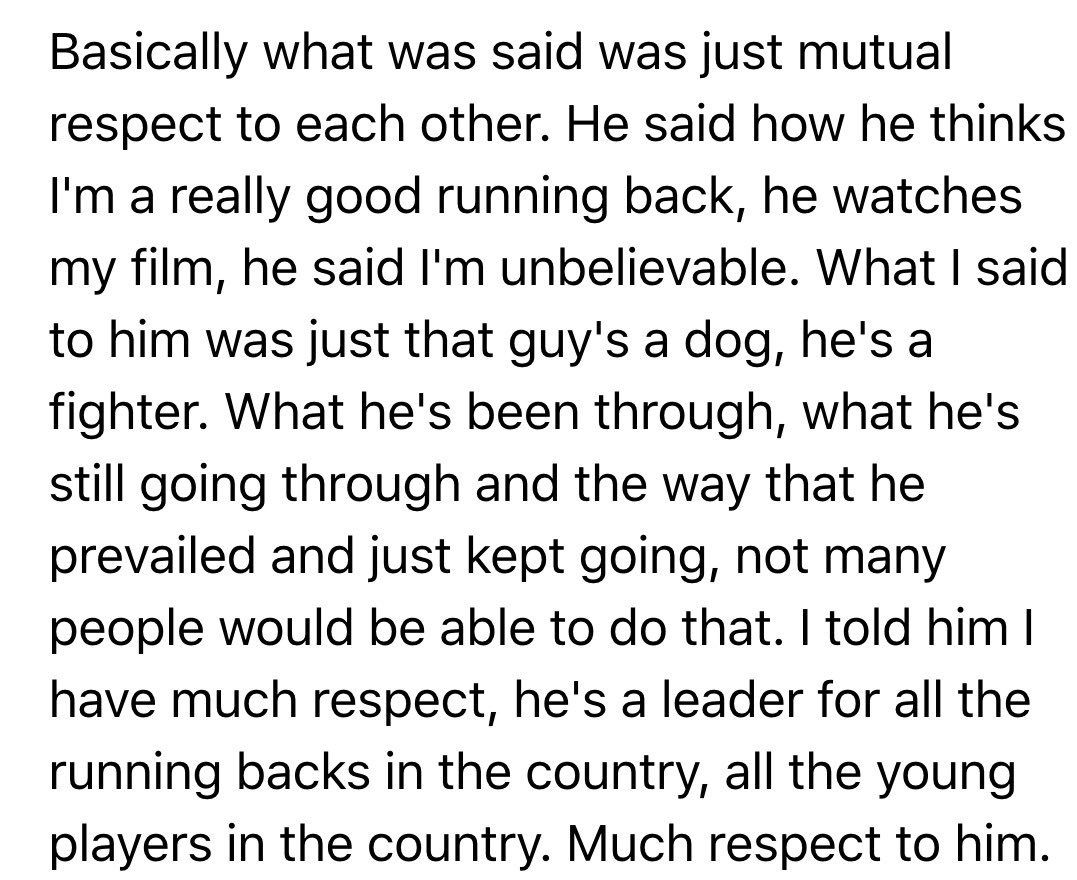 Two of country's best RBs talked after game. Here's what Saquon Barkley said about conversation with James Conner. https://t.co/FhgGPYaRz1