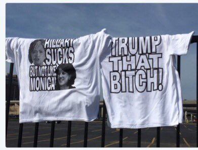 """BREAKING: People who made this shirt a best seller at Trump rallies DEEPLY offended by the word """"deplorable."""" https://t.co/JNNeT08N7B"""