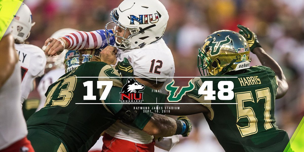 FINAL: Bulls tally 658 yards of total offense and move to 2-0 on the year! #BullsUnite https://t.co/Lr4weNlE0j