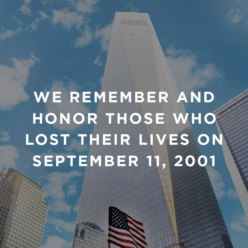 We honor those who lost their lives and pray for everyone affected on this day 15 years ago. #NeverForget https://t.co/lmHPbNH8kw