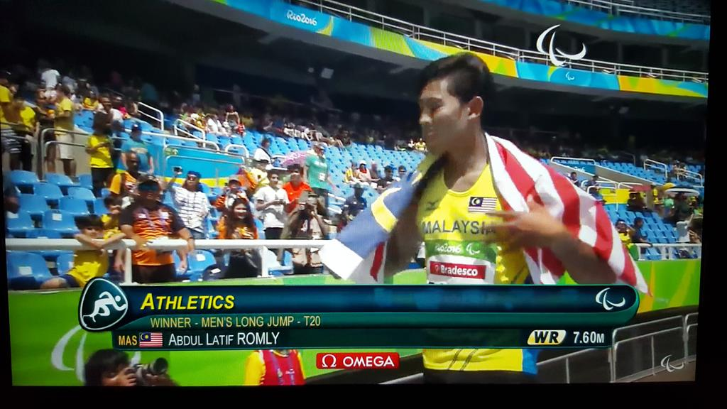 3rd gold medal for Malaysia from the #Paralympics. Well done Latif Romly. Bro, u memang LUAR BIASA! https://t.co/rEUoYWeTyu
