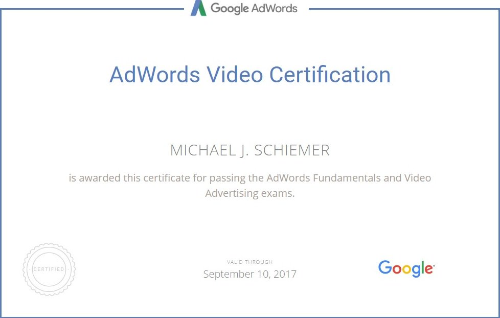 Google adwords video advertising certification course <-- read ...