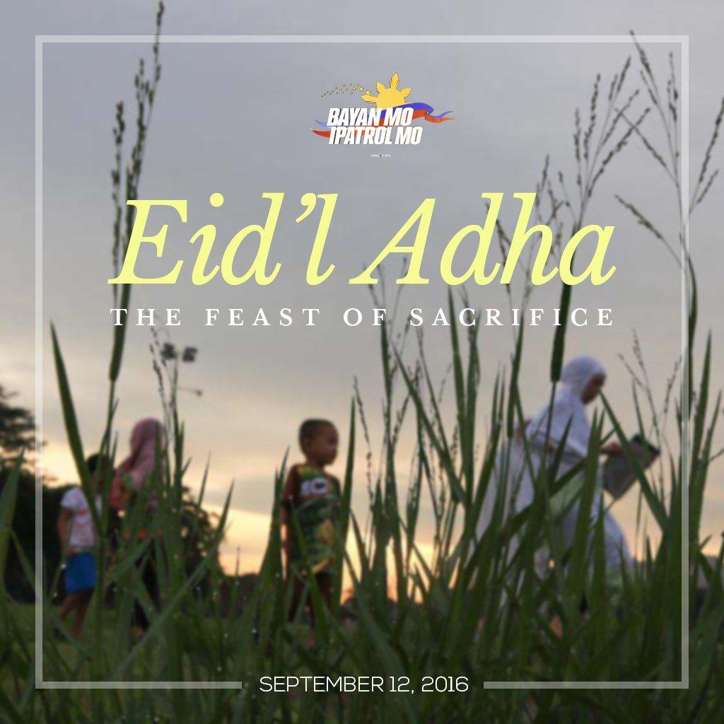 Eid'l Adha Mubarak sa ating mga kapamilyang Muslim! https://t.co/5hLGnOAF9p