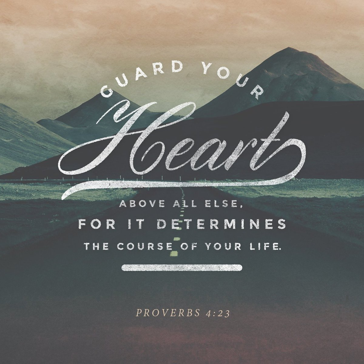 Guard your heart above all else, for it determines the course of your life. https://t.co/yCX6FUDTRj https://t.co/mLxgiEbNPF