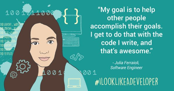 Making things possible -- that's what motivates the code I write.  #ilooklikeadeveloper @googledevs https://t.co/IuvypTCfTG