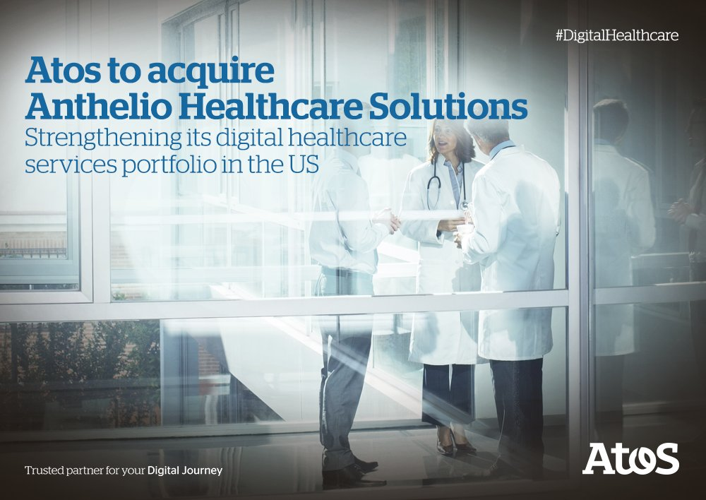 We're acquiring @Anthelio to strengthen our leadership in #DigitalHealthcare #DigitalLeader https://t.co/o93E6Mf9WC https://t.co/JLu0zjyHjY