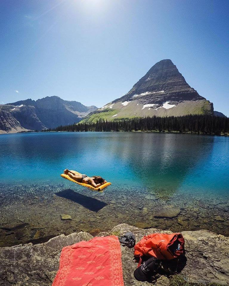 Lounging in crystal clear waters at Hidden Lake, Montana: https://t.co/5LZIz6spNb
