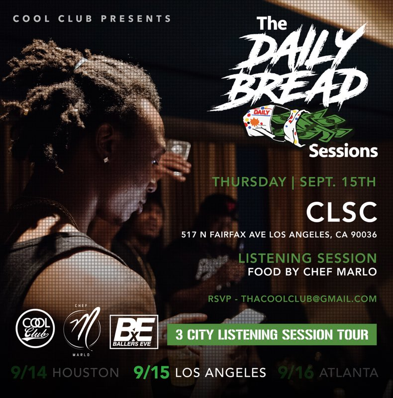 Thursday. 9/15. Scotty ATL  listening session at #CLSC on Fairfax || After Party at Bronson Car https://t.co/Lv84if2O3Y