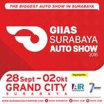 Jgn sampai ketinggalan #GIASSurabaya   Parade mobil2 terbaru, dll   28 Sep-2 Okt16 di Grand City. Info: @GIIAS_SUB https://t.co/IvZ4kkh0W8