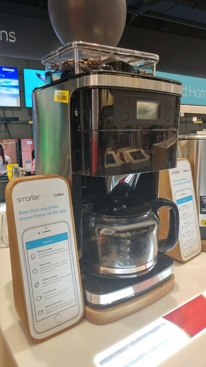 Check out the world's first connected smart coffee maker in-store now! #MorningRush https://t.co/bCAcSmdGUf
