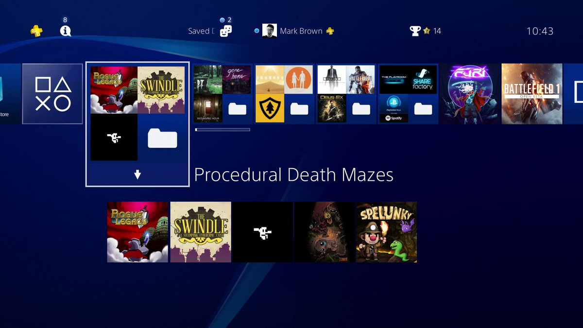 These new PS4 folders are useful https://t.co/25GDlh9Bys
