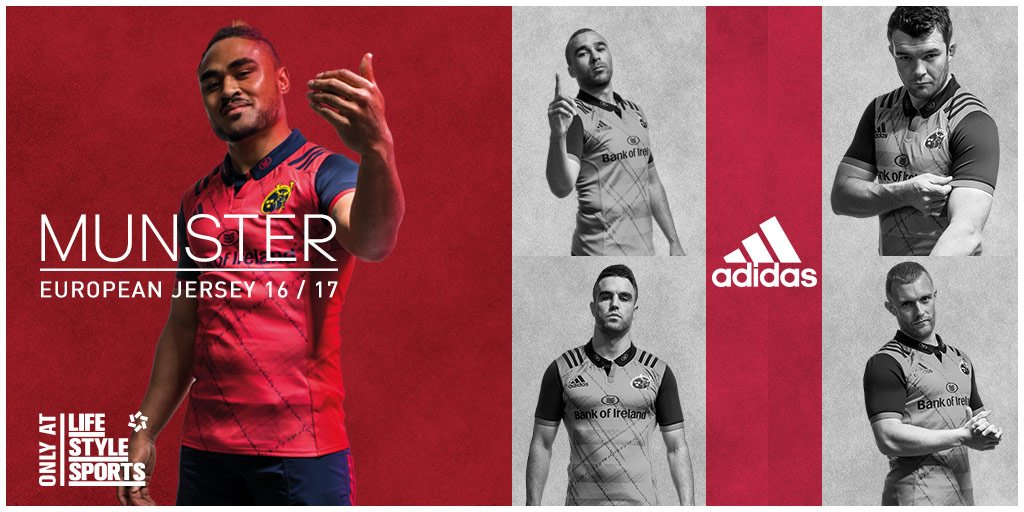 The new Munster European jersey is now available for pre-order, only at https://t.co/BhEgjaA0x7 #MunsterRising https://t.co/PAnR2V9vSr