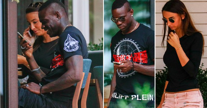 Image result for Balotelli relaxes in Monaco with mystery brunette