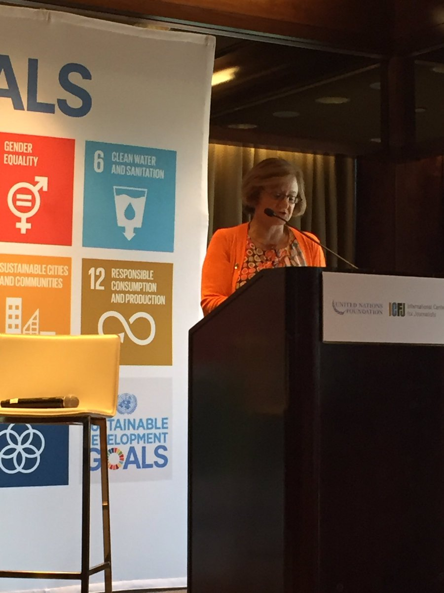 .@cristinagallach highlights the importance of the media in achieving the Sustainable Development Goals #Journalists https://t.co/uFSDRhsMw8