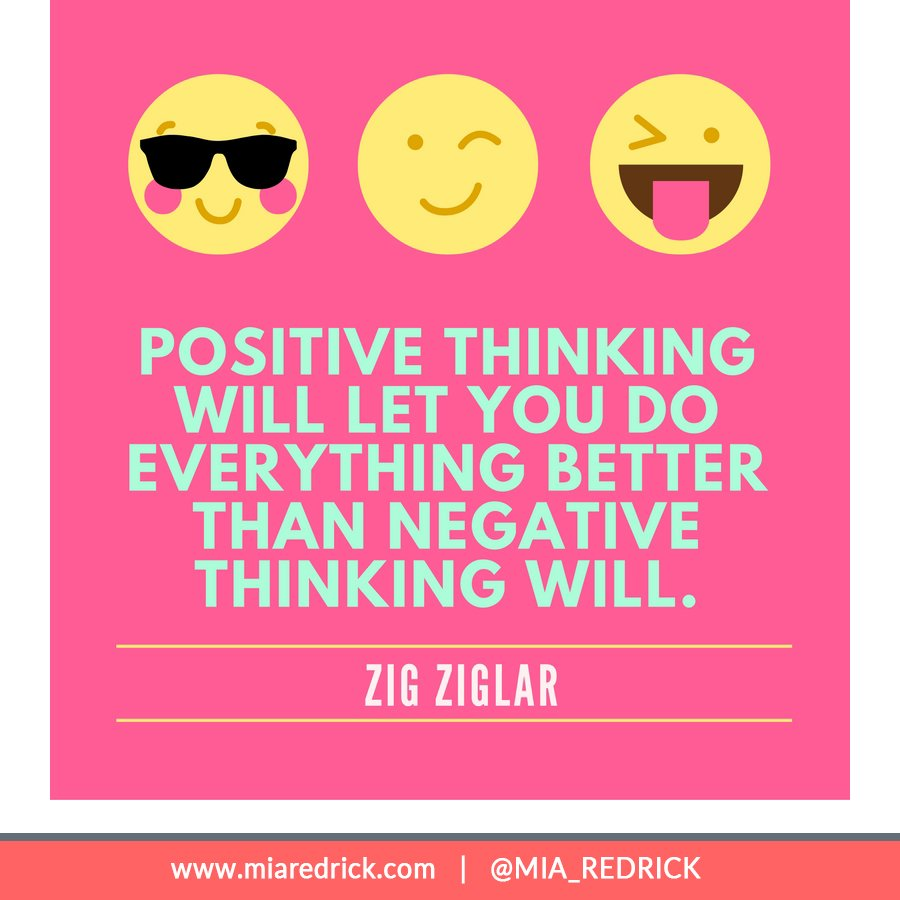 Positive thinking will let you do everything better than negative thinking will.-By. Zig Ziglar https://t.co/ZFREOOCwwm