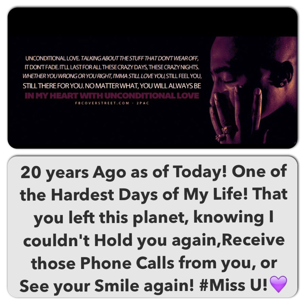 #RIPTupac #To Everyone who Reach me to checkup on me Thank u💜#Everyone who knows Me knows this Day is