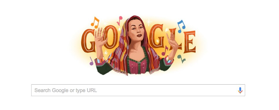 I'm a proud Peruana! Yma Sumac is 2day's Google Doodle. The only Peruvian to have a ⭐️ on the Hollywood Walk of Fame https://t.co/NFc0ewegLm