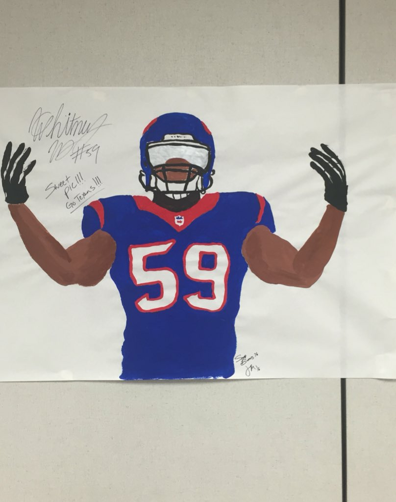 The incredible #RRE art teachers made this of @merci380 for his visit today and he autographed it!! #katyisd https://t.co/2IfubV9fZp
