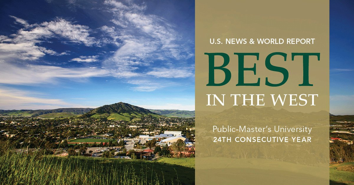 Cal Poly is ranked #1 public, master's-level university in the West by @usnews #CalPolyProud https://t.co/uP6XTgY7aj https://t.co/ntLqOsf7uz