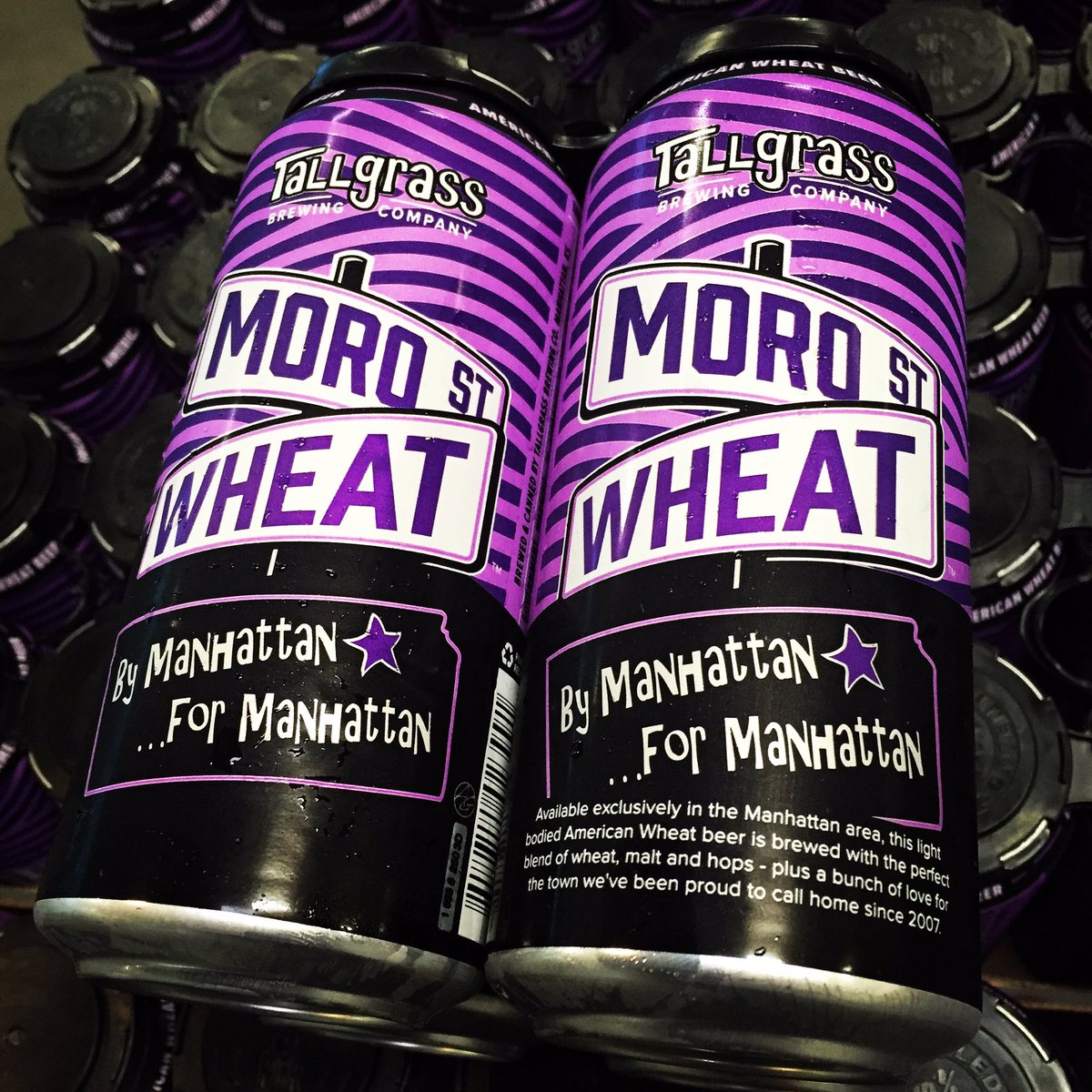 Moro St. Wheat Manhattan-exclusive wheat beer hits shelves Friday before @KStateFB home opener this weekend! https://t.co/1o4VPWXWEB