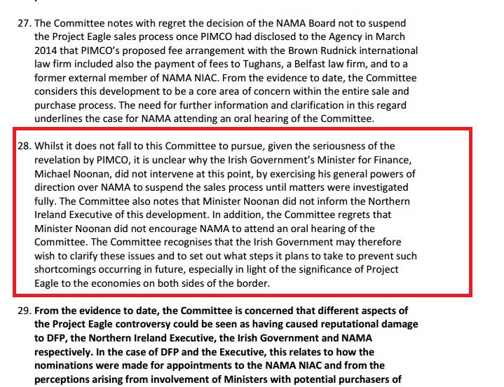 The North's report on NAMA last April said this about Minister Michael Noonan; it's fairly damning. #rtept https://t.co/co0YmHJCZn