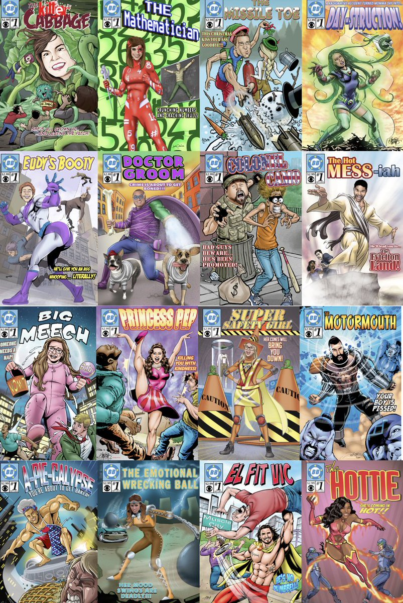 ICYMI all 16 Comic Book covers from tonight's @CBSBigBrother #BB18 https://t.co/fl3PsUjUCO