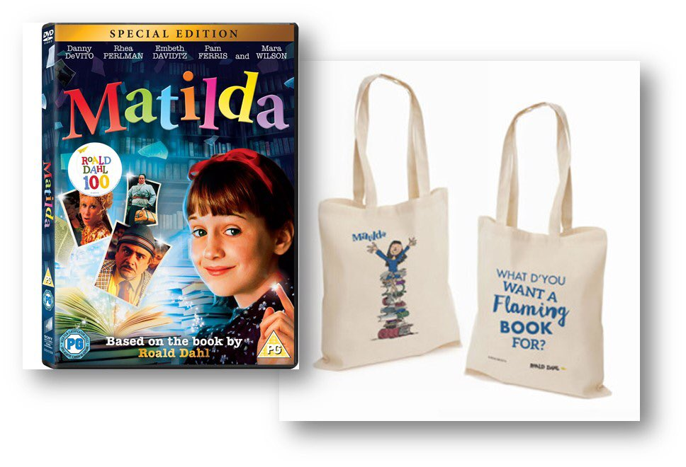 I'm giving away a #Matilda DVD and bag for #RoaldDahl100 RT to enter! Thanks @SonyPicsAtHome https://t.co/BaDQw6RByz https://t.co/VQzkJEgYKJ