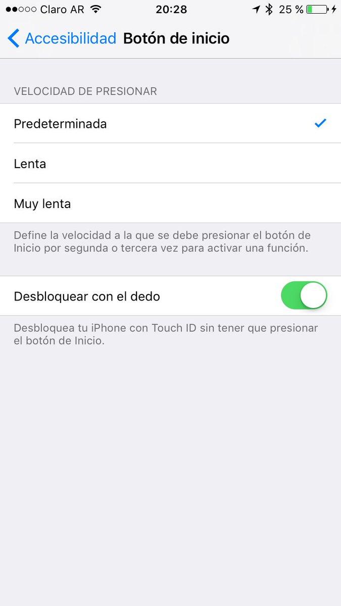 No te gusta tener que desbloquear el iPhone tocando el botón en #iOS10? Podes volver atrás con esta opción https://t.co/jGWAnsynNt