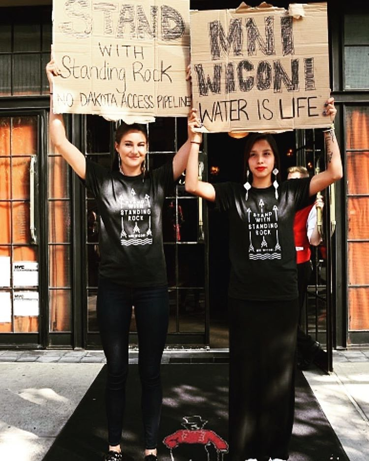 Take a stand w/ @shailenewoodley to support Standing Rock when you snag this exclusive tee: https://t.co/dj3tlqbLvG https://t.co/uw3F9KnVL5