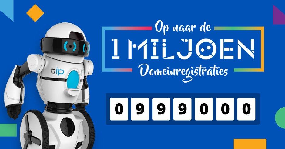 En we zijn de 999.000 voorbij! Retweet om ook kans te maken op een TiP robot! Op naar de #miljoen #letsdothis https://t.co/NcXdzhBKSL