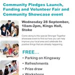 Get more involved in making changes to your local area – come along our Stronger Together event today 10am - 2pm https://t.co/MJeDhQhYnO