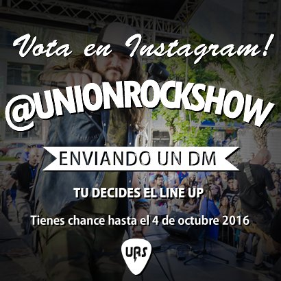 Tú decides el LINE UP de los #PremiosUnionRockShow2016 @BarutaCultural @Pal_Toque @crestametalica @LaMega107 https://t.co/Rz2jOsvEJK