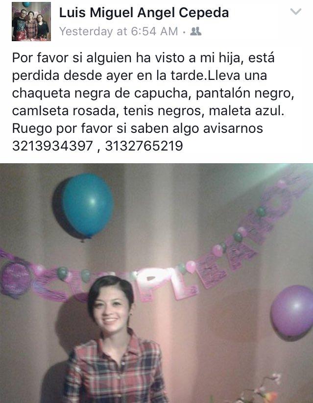 #Ayuda #ServicioSocial Si han visto a Natalia por favor ayudar, sino por favor RT!!! Es la hija de mi amigo @lMaC7x https://t.co/CNcHiEvIhg