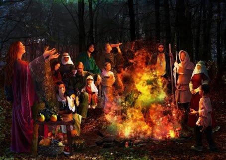 ハロウィンの原型はケルトの新年と収穫を祝うサウィン祭。収穫物をずらりと並べ焚き火をおこして皆賑やかで楽しい一時を過ごしたという。https://t.co/0pnuy5bjhR #考花学 https://t.co/Z6JbWSo0jB