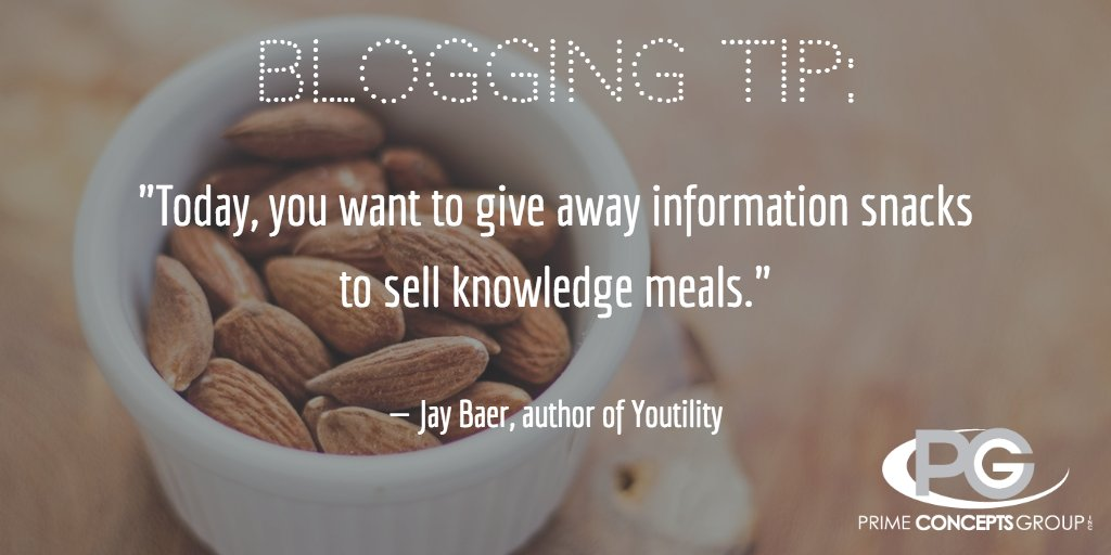 """Give away information snacks..."" #blogging #business #blog #contentmarketing #bloggingtips #seo #marketing https://t.co/gc64wloE0T"