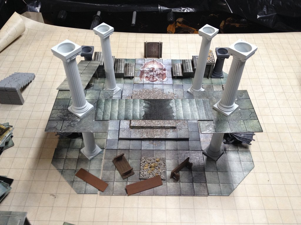 Found some pictures of a #dnd set piece I never ran. A vault under the ruins of an ancient Dragonborn fortress. https://t.co/wXCl7in7SP