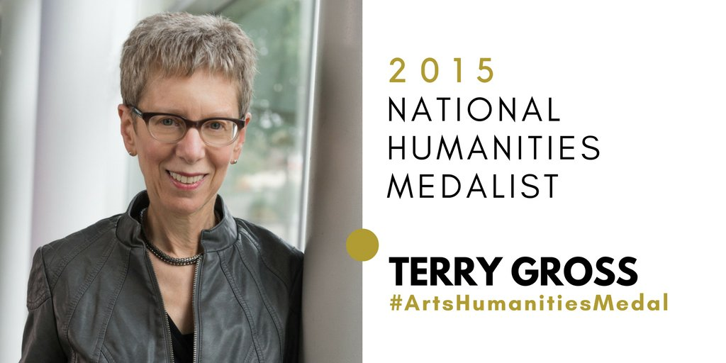 We are proud to announce @POTUS has chosen Terry Gross as a recipient of the 2015 National Humanities Medal @NEHgov https://t.co/WWKLbur0ph