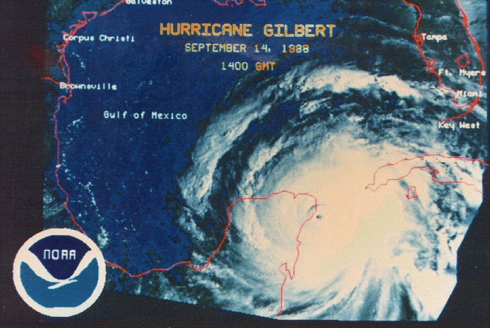 Un día como hoy pero en 1988, el huracán #Gilbert llegaba a la península de Yucatan! Recuerdan ese día?? https://t.co/OAN6k052vc