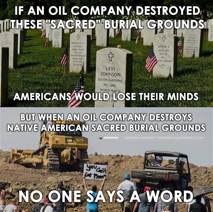 Hopefully this meme will put #NoDAPL in better perspective for those who don't understand part of this movement