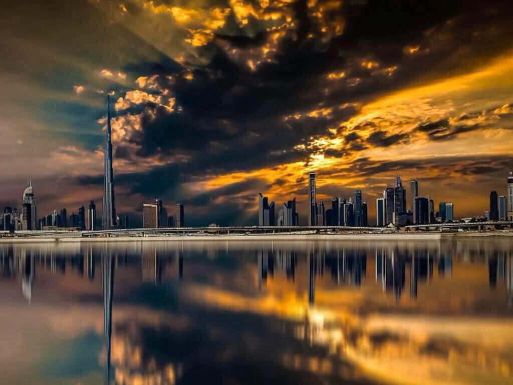 Sunrise in Dubai | Photography by ©Karim Nafatni https://t.co/NT9TJZ5NmR
