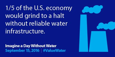 Investing in water infrastructure is good for our health & economy #ValueWater #InfrastructureMatters https://t.co/9iclhyzetL