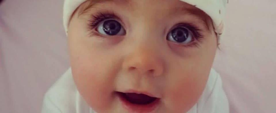 Большие ресницы у ребенка
