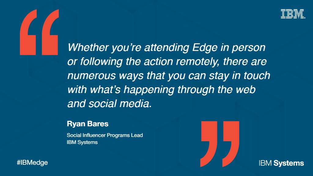 Are you going to #IBMedge next week? Here's how to maximize your social experience on-site. https://t.co/vPjUSNCloZ https://t.co/8zfGjQsCBb