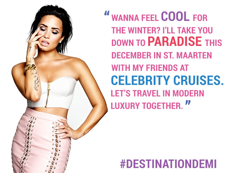 Who's joining me for my exclusive concert with @celebritycruise? #DestinationDemi https://t.co/4FZJyfiqdm https://t.co/vJl69E81yL