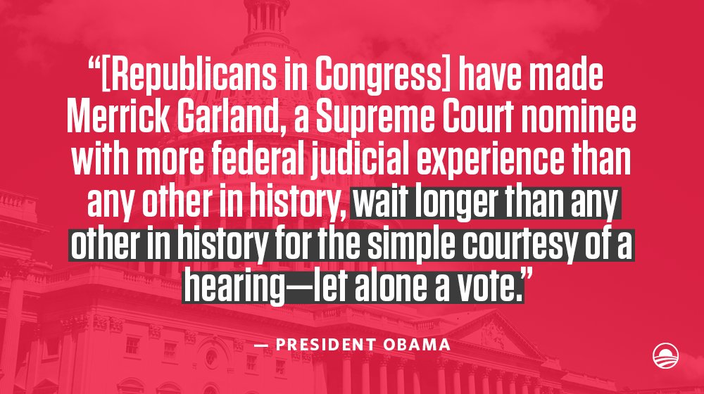 Why should *this* President's nominee have to wait longer than any other in history? #DoYourJob https://t.co/unKfOUANLI